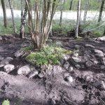 En bosättning från övergången mellan stenålder och bronsålder