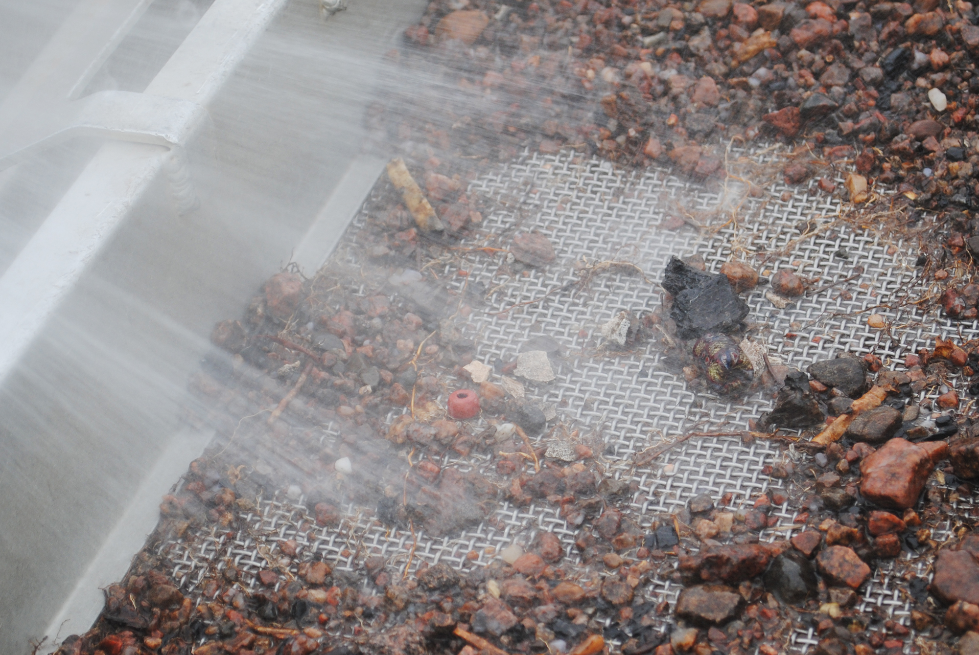 Vattensållning i Bådstorp. Foto: Arkeologerna.