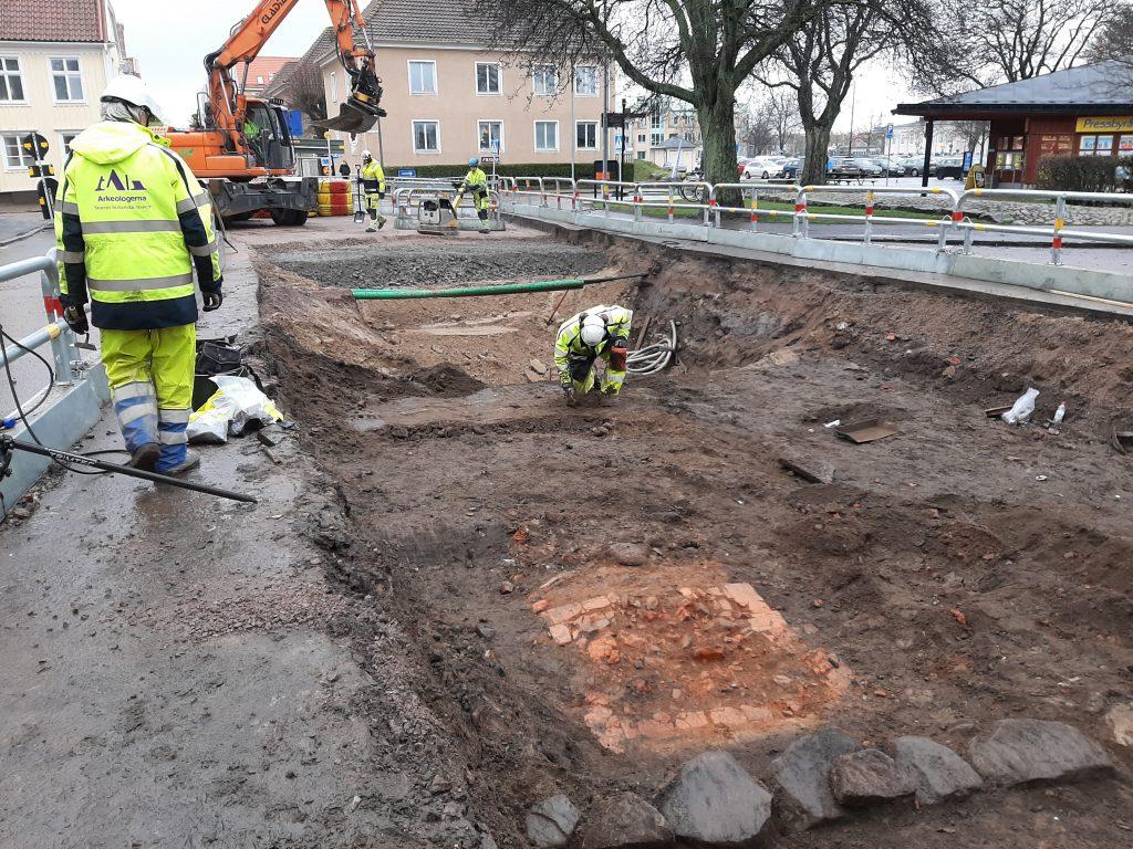 Arkeologisk schaktningsövervakning på Kvarnholmen i Kalmar.