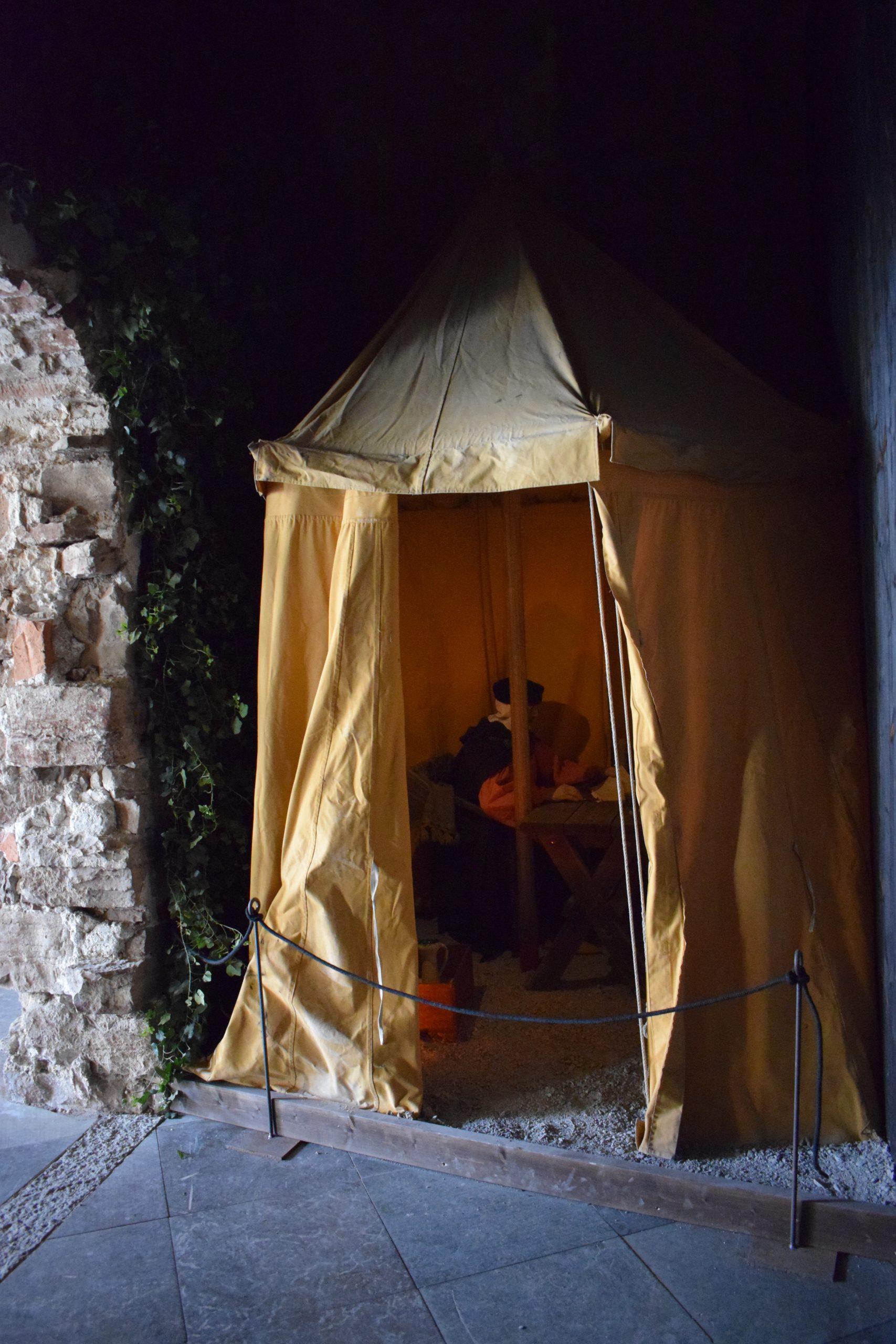 Den svenske kungen Albrekt av Mecklenburg tillbringade minst 10 veckor vid lägret framför Borgholms slott hösten 1367.