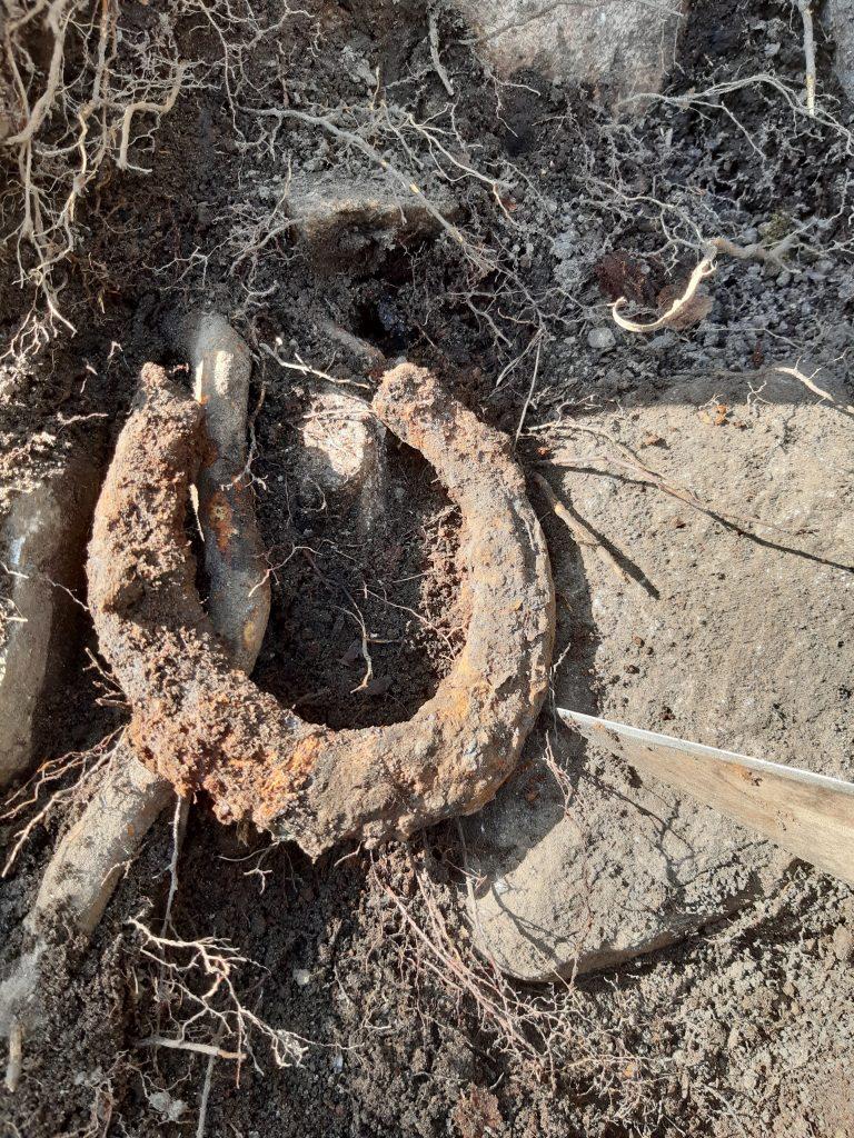 En hästsko som hittades nära stugan