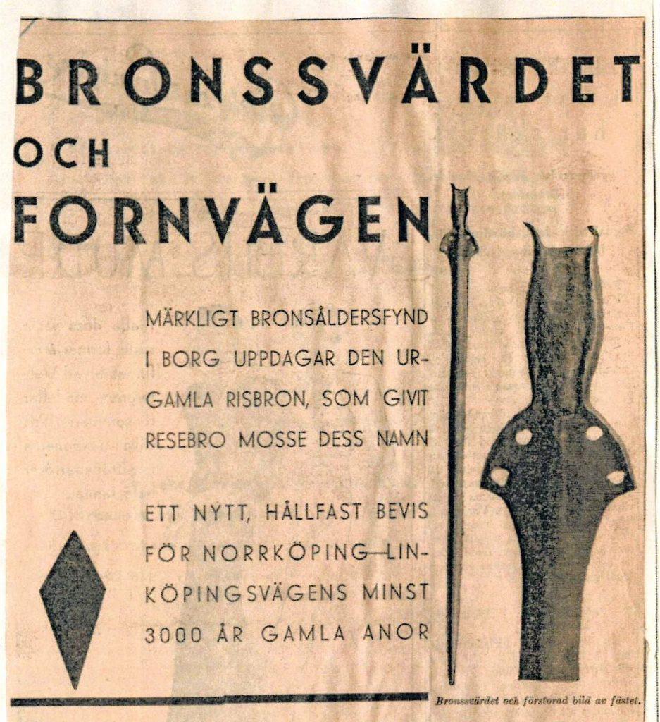 Artikel ur Norrköpings Tidningar 1933.