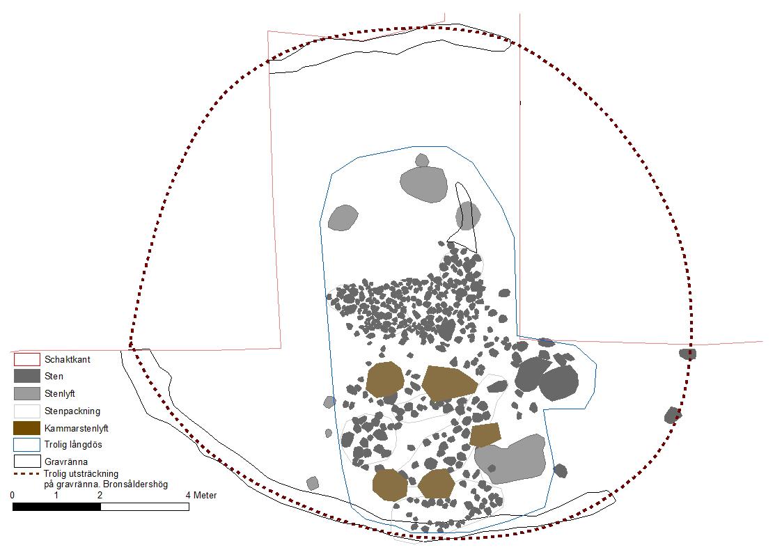 Figur 6. Plan över grav 5.